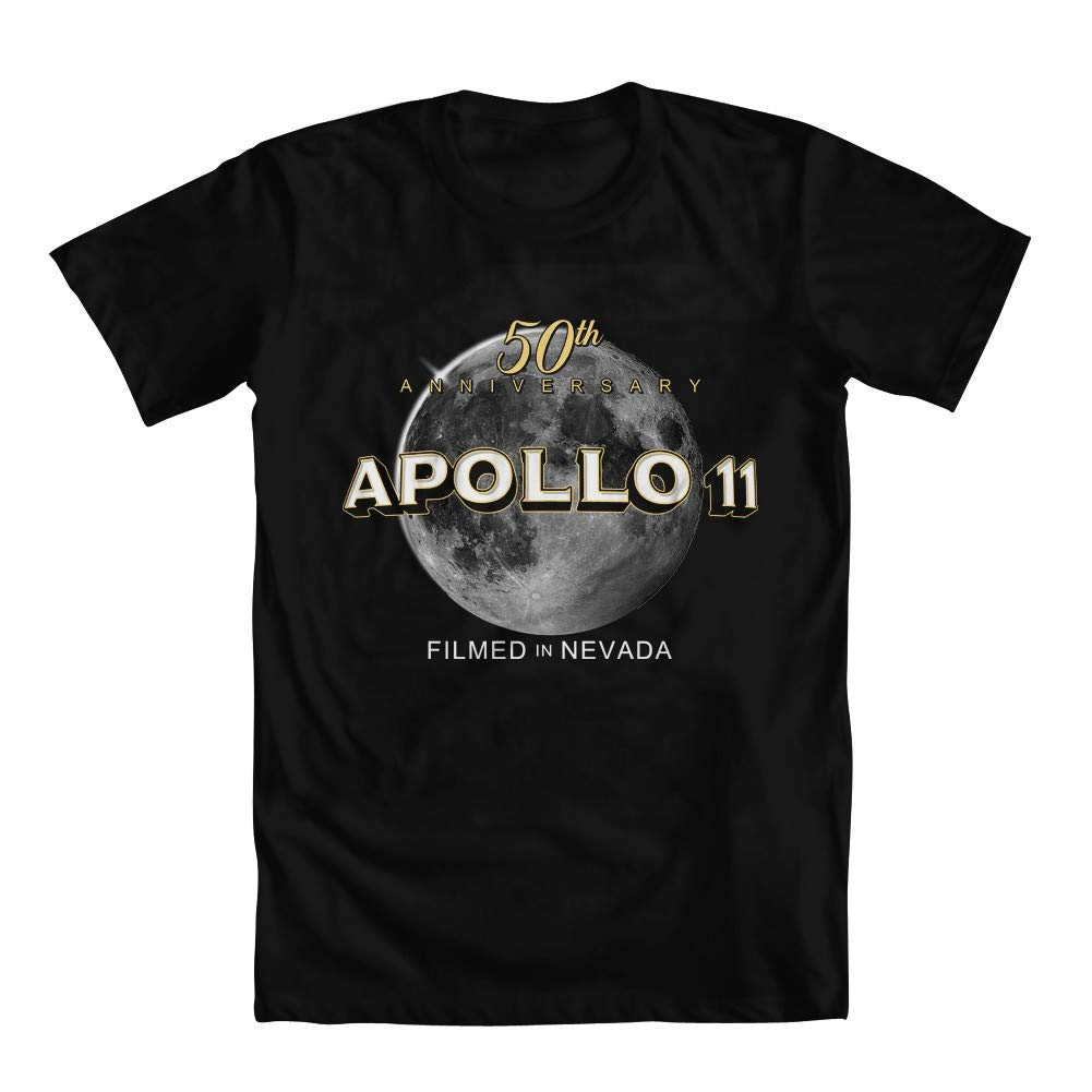 GEEK TEEZ Apollo 11 Filmed in Nevada Parody Youth Girls T-Shirt