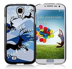 Popular Design Samsung S4 TPU Protective Skin Cover Christmas Deer Black Samsung Galaxy S4 i9500 Case 2