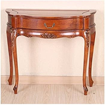 Merveilleux Carved Wood One Drawer Console Table