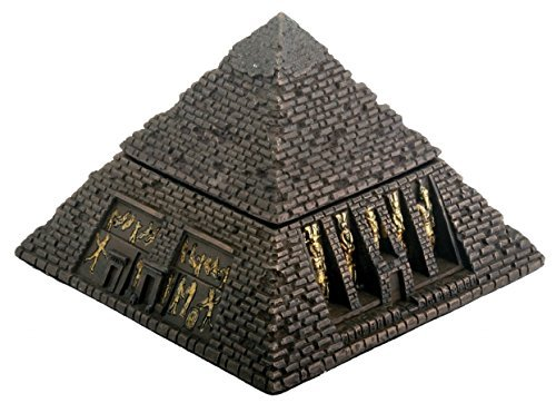 YTC Egyptian Sm. Bronze Pyramid Trinket Box - Egypt Jewelry - Pyramid Box