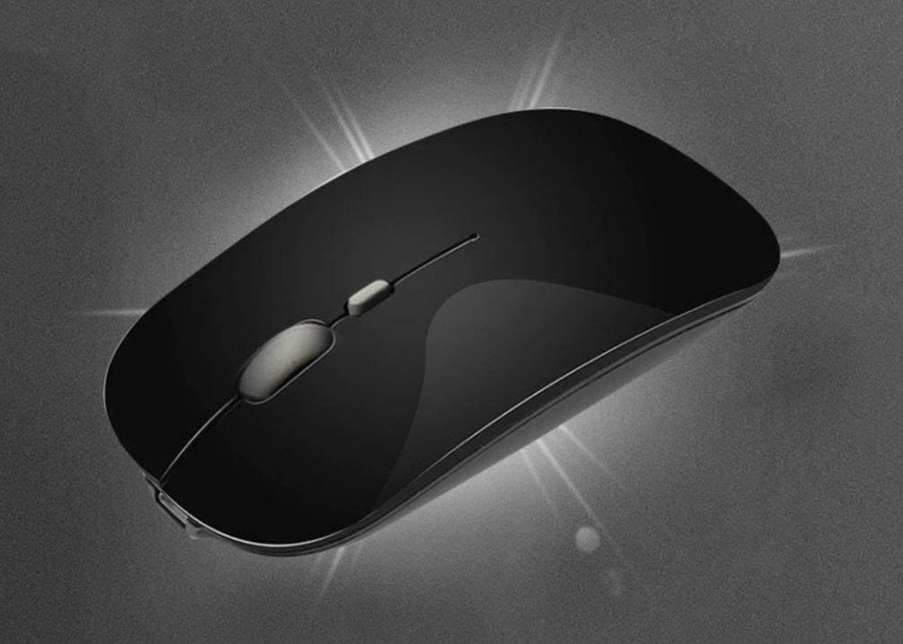 Mouse Charging Wireless Mouse Optical Wireless Mouse Ergonomics Ultra-Thin Portable ABS Environmentally Friendly Material Black 5PCS