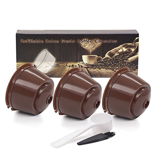 Refillable Coffee Capsules Refilling More Than Reusable Coffee Pods for Nescafe Brewers 3 Pack - Circolo 3 Light