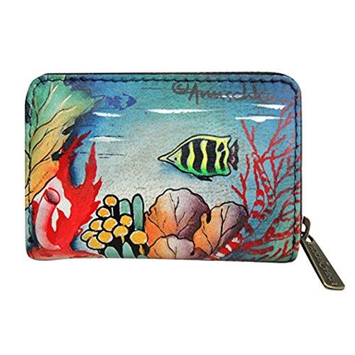 Card Ocean Credit Treasures Leather Anuschka and Business Genuine Holder 7fXxq1g
