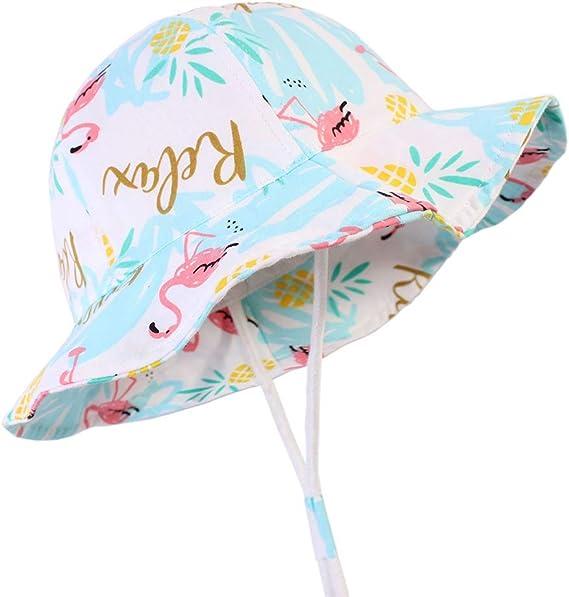 Baby Sonnenhut Schirmmütze Nackenschutz Cap Anti-UV Picknick Reisen Weiß S