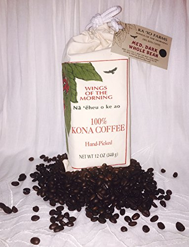 100% Hawaiian Grown Kona Coffee Script Picked - Wings of the Morning