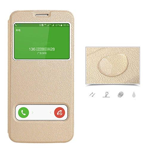 Samsung chiusa Gold con Pelle Galaxy S7 in Magnetica Cover Pu Galaxy Portafoglio Custodia per pelle JEPER S7 Bookstyle Stand Protettiva Flip Case Sqr1SO