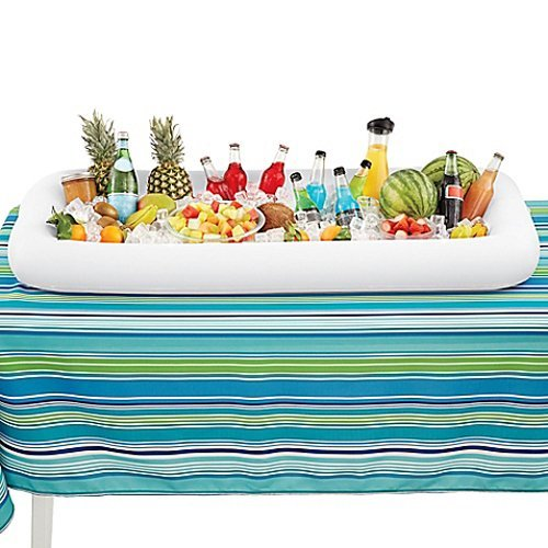 Cool Downz Inflatable Salad/Serving Bar, White, 51'' L x 25'' W x 4.5'' Deep (2-Pack) by Cool Downz (Image #4)