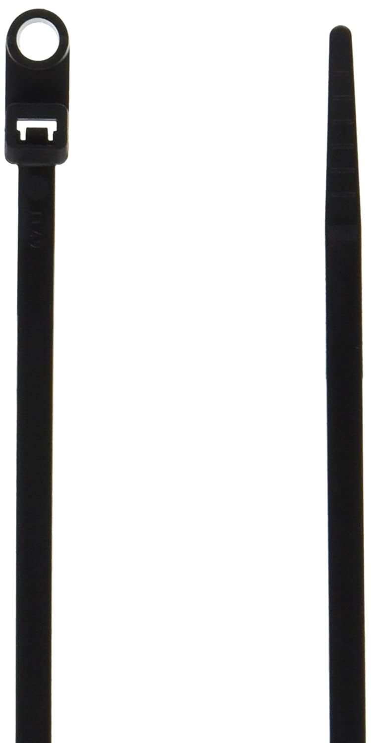 Morris 20336 UV Mounting Nylon Cable Tie with 50-Pound Tensile Strength, 8-Inch Length, Black, 100-Pack Morris Products