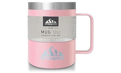 Amazon.com: Hydrapeak - Taza de café de acero inoxidable con ...