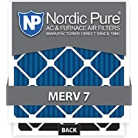 Nordic Pure 16x24x2 MERV 7 Plus Carbon AC Furnace Air Filters, Qty 3 by Nordic Pure