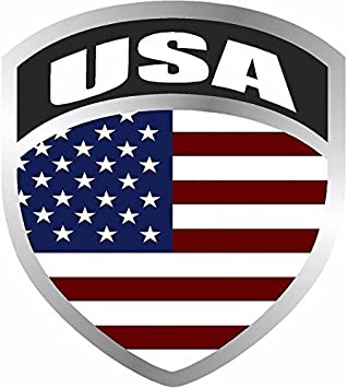 MAGNET American Flag Shield Decal Badge USA Car Truck Motorcycle Vinyl MAGNET...