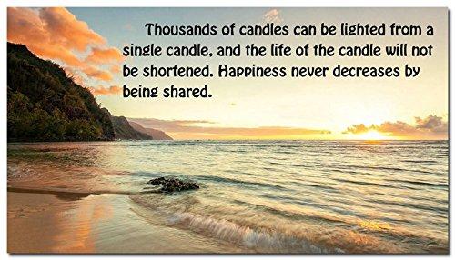 24X43inch Happiness Motivational Quote Silk Poster 24X43  Modern Office Decor Beach Sunset