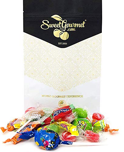 SweetGourmet Fun Mix Candy | Lollipops | Hard Candies | Filled Candies | Bubble Gum Pops | Chewy Candies | Ideal For Kids Parties & Pinatas | 1 pound