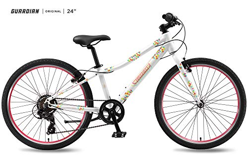 (Guardian Lightweight Kids Bike 24 Inch, Safe Patented SureStop Brake System, Kids Mountain Bike, Bike Sizes for Kids 4'2