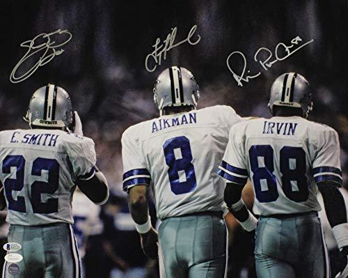 - Dallas Cowboys Triplets Autographed Signed 16x20 Photo Aikman Irvin Smith Bas - JSA Authentic