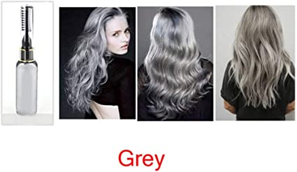 clifcragrocl tinte pelo,15ml Colorante no t¨®xico temporal Tinte para el cabello Unisex Cosplay DIY Salon Hair Mascara - Gris
