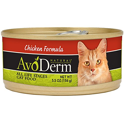 Avoderm Natural Wet Cat Food, Real Chicken Formula, 5.5 Ounce Cans, Case Of 24