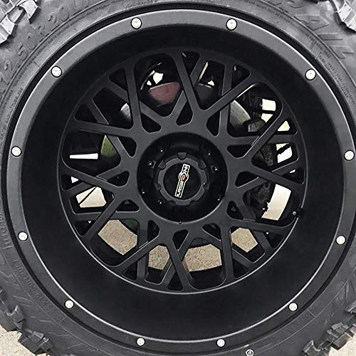 Wheel Size Inches: 18X9 PCD: 8-165.1 Load Rating lbs Rocker Style: 412 RWD Finish: Satin Black w//Chrome Bolts 3650 Vision Off-road Wheels