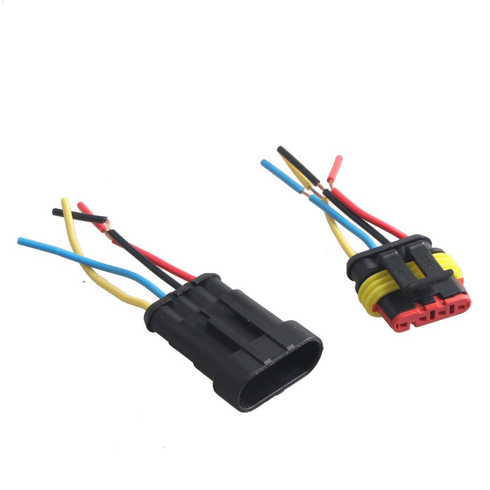 Mintice™ 5 broche voiture de façon automatique étanche connecteur électrique kit de prise de courant avec du fil AWG de calibre marin