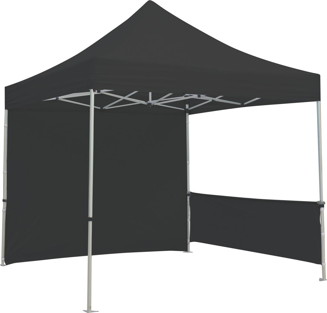 Exhibitor's Handbook TNT-3MX3M-FLL-WLL-BLK Zoom Popup Tent Full Wall Only, 10', Black by Exhibitor's Handbook