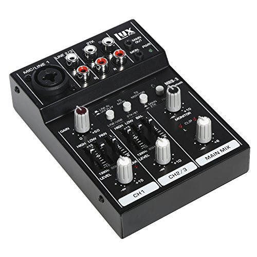 LyxPro MRB3 3-Channel Audio Mixer – Flexible, Compact Personal Pro Audio Mixer with USB & Bluetooth Connections by LyxPro (Image #5)