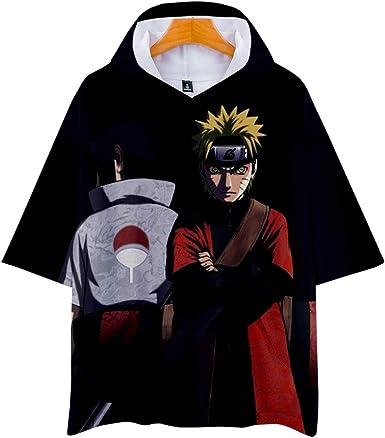 CLOAAE Naruto Uzumaki Naruto Uchiha Sasuke 3D Nueva Camiseta ...