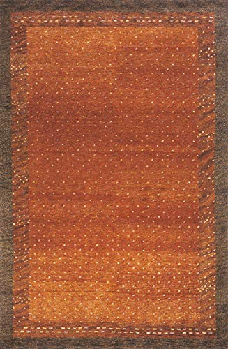 - Momeni Rugs DEGABDG-01PAP2030 Desert Gabbeh Collection, 100% Wool Hand Knotted Contemporary Area Rug, 2' x 3', Paprika