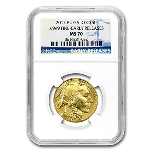 2012 1 oz Gold Buffalo MS-70 NGC (Early Releases) 1 OZ MS-70 NGC