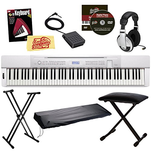 Casio Privia PX-350 88-Key Digital Piano Bundle with Gearlux