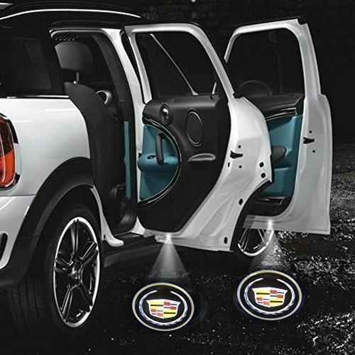 2 X Black 5th Gen car door Shadow laser projector logo LED light for Cadillac Eldorado Sedan de Ville Catera CTS XLR BLS STS SRX XTS DTS Escalade Elmiraj All series