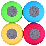 Rosbane(TM) Fashinable BTS-06 m in i Portable Bluetooth Water Resistant Shower Speaker with Sucker Support Hands-free Calls For Laptop/Smar[ Green ]