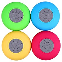 Rosbane(TM) Fashinable BTS-06 m in i Portable Bluetooth Water Resistant Shower Speaker with Sucker Support Hands-free Calls For Laptop/Smar[ Blue ]