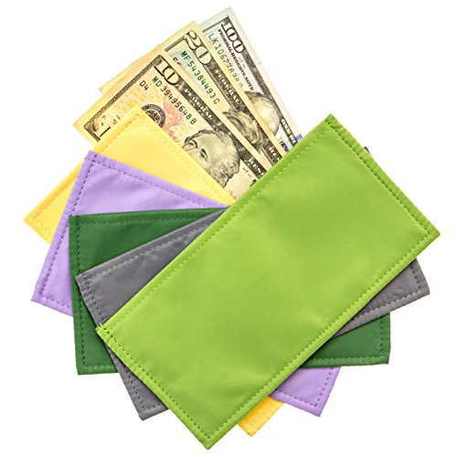 Magnetic Cash Budgeting Envelopes, Set of 5, Divide. Spend Save. Budget Your Way to Savings (Fancy (Saving The System)