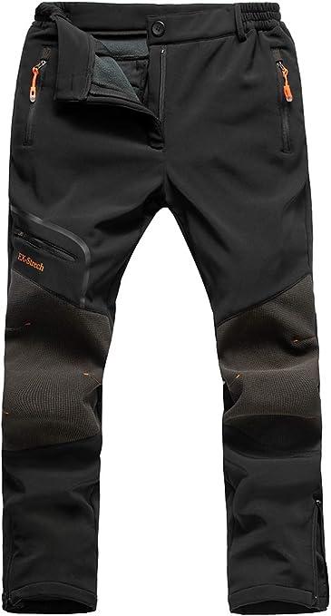 Postropaky Womens Outdoor Snow Ski Pants Waterproof Hiking Insulated Softshell Pants Snowboard Zipper Bottom Leg