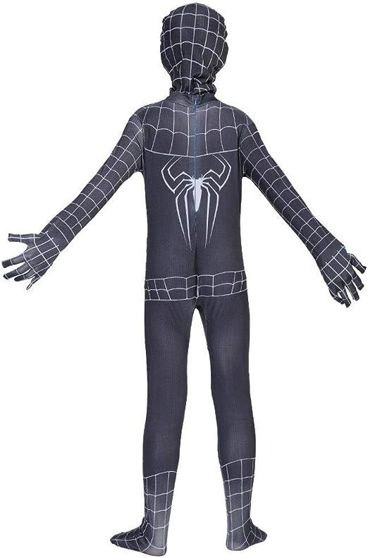 KLEIDEE Cosplay Ropa Spiderman Negro Traje De Anime Siamés ...