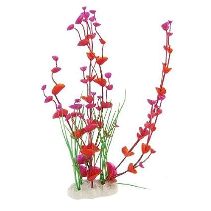 eDealMax Jardín Paisajismo acuático plástico Hojas del ornamento del acuario, DE 12 pulgadas, púrpura