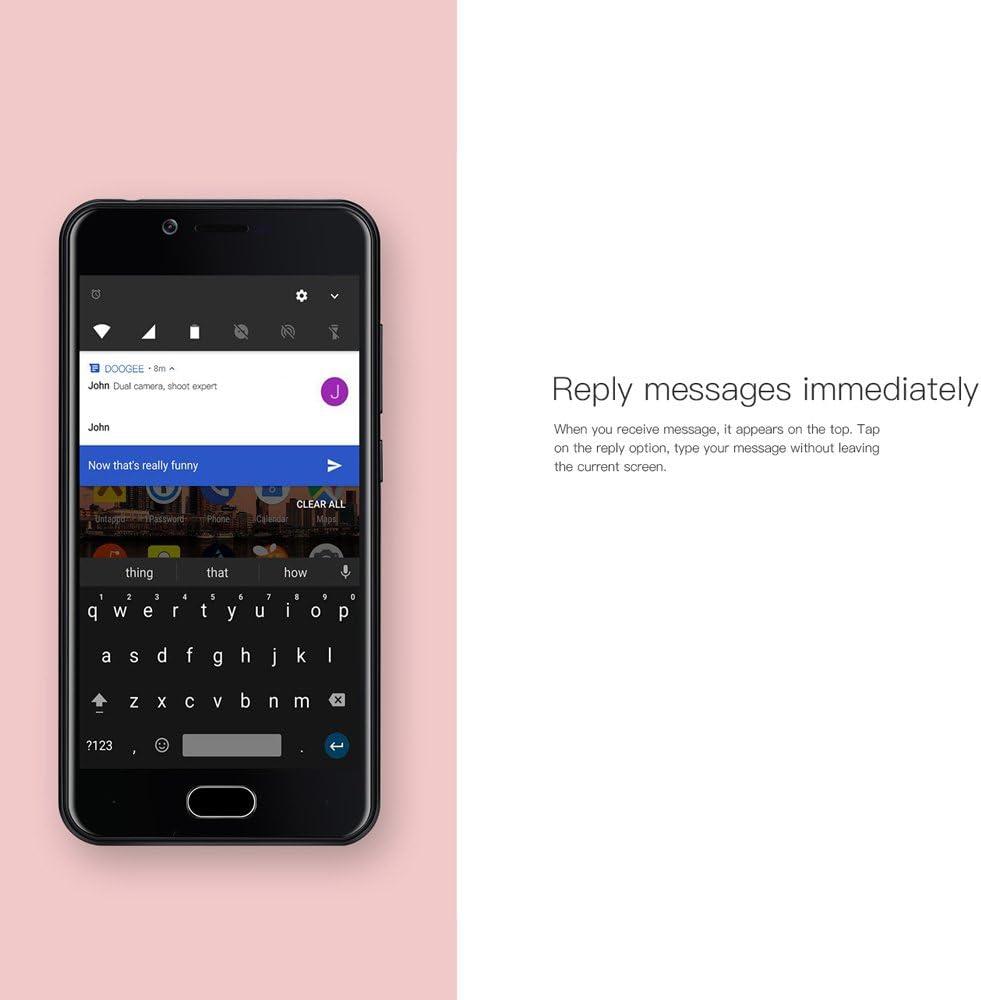 DOOGEE Shoot 2 Smartphone - 3G WADMA 5.0inch Pulgadas Quad-Core 1.3GHz Android 7.0 1GB RAM 8GB ROM 5.0MP Cámara Trasera Dual +5.0MP Cámara Frontal, 3360mAh Batería, Huella Digital: Amazon.es: Electrónica