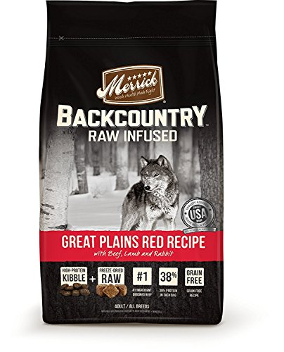 Merrick Backcountry Grain Free Raw Infused Great Plains Red Meat Adult Dog Food, 4 Lbs.