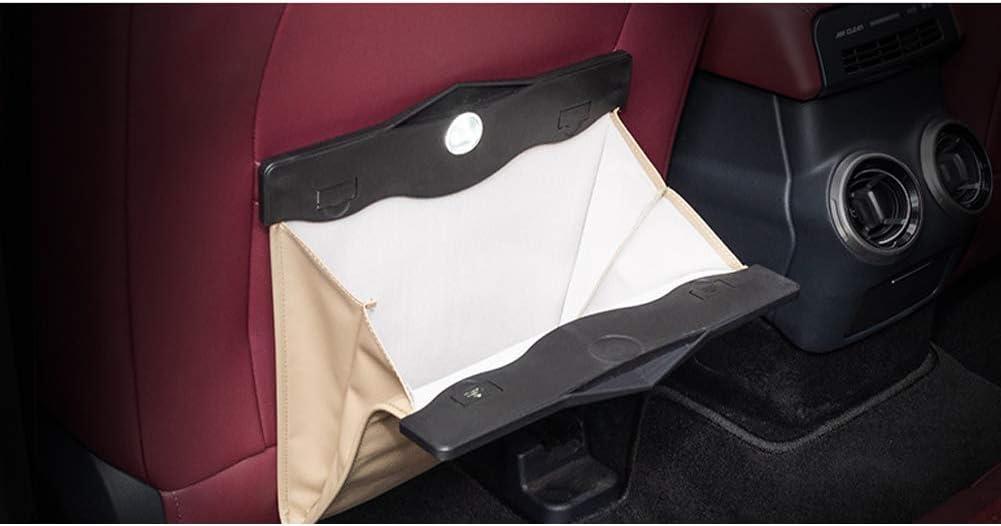 wwzEITpV Car Garbage Bag Comfortable Car Garbage Can Portable Drive Bin Premium Hanging Wastebasket Beige