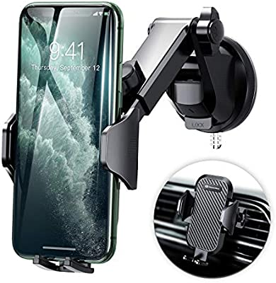 360 Grados Rotaci/ón Soporte M/óvil Coche para Rejillas Xiaomi y ect Huawei para iPhoneXs Max//Xs//X//8//8Plus//7//6 Samsung Galaxy S9//S8//S7//S6 Mpow Soporte M/óvil para Coche