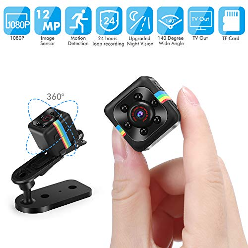 Mini Spy Camera,Full HD 1080P Camera Small Covert Home Nanny Cam Portable Camera with Night Vision and Motion Detection Functions, Suitable for Outdoor Sports/Home Security Surveillance Hidden Camera