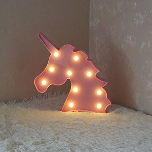 Unicorn LED Night Lamp Decorative Marquee Signs Light-Wall Decoration for Living Room,Bedroom(battery Opearted) (Unicorn Head) by Glintee (Image #7)