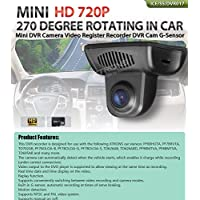 XTRONS Mini HD 702P 270 Degree Rotating In Car DVR Camera Video Recorder Cam G-Sensor for XTRONS Android Car Stereo PF6BHGTA PF7BRVTA PF8BMTVA PF9BMTVA TD702AB TD626AB TD626ABD TD695AB