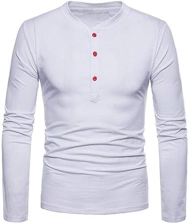 Camiseta De Manga Larga para Hombre Blusa Básica Fit Slim Sudadera con Mode De Marca Cuello Redondo Largo Sudaderas Streetwear Camisetas Clásicas Tops Camisa De Compresión Deporte Ideal Gimnasio: Amazon.es: Ropa y