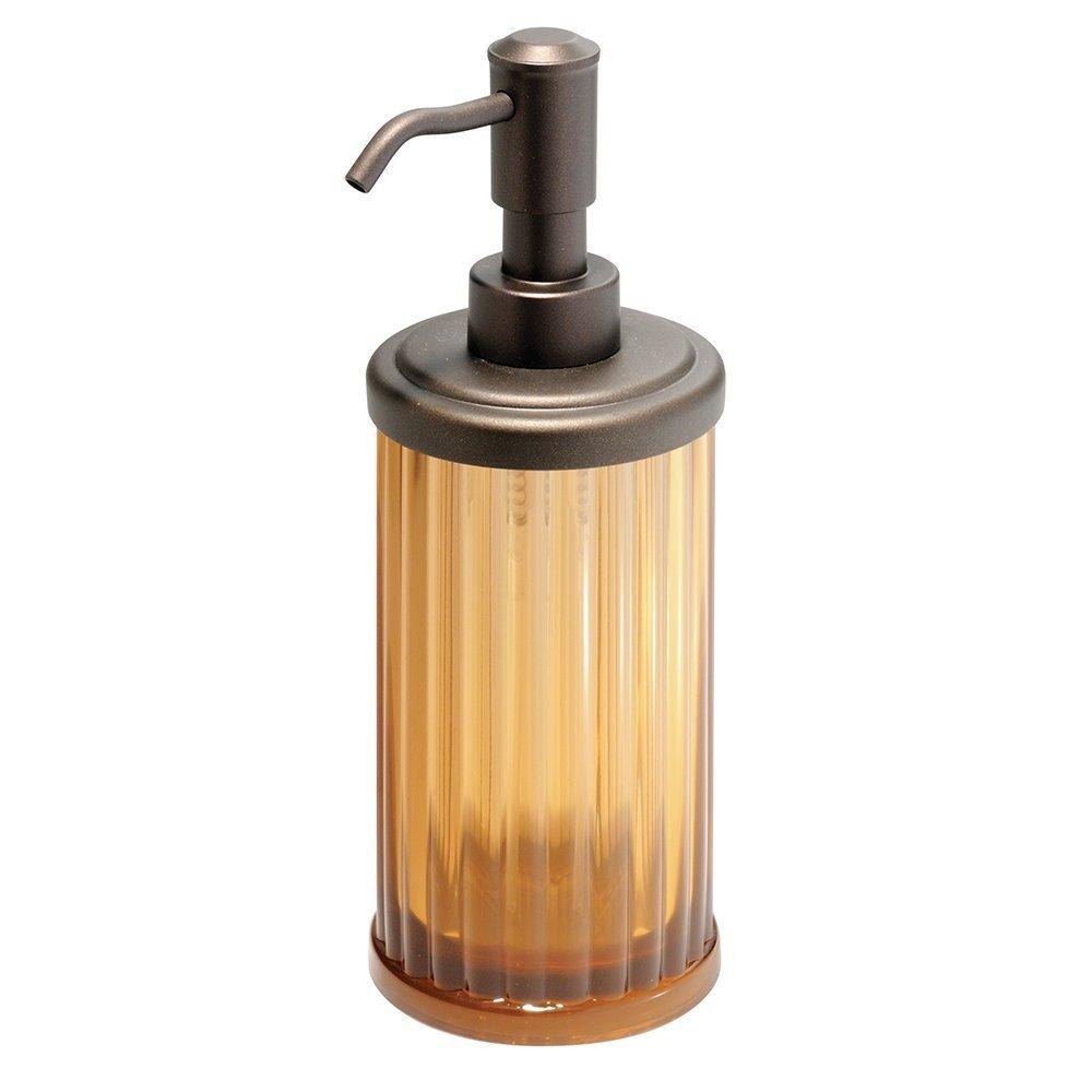mDesign Juego de 2 accesorios para baños – Set de baño con dosificador de  jabón y c414f48c1392