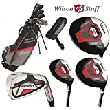 Wilson Prostaff HDX Complete Golf Club Set & Stand Bag New Steel Shafted Irons & Graphite Shafted Woods, Mens Right Hand