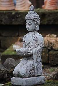 Estatua de Buda, resistente a las heladas., Gris Antiguo, 46