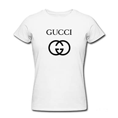 c0b23ec4d Image Unavailable. Image not available for. Color: Womens Gucci Inspired  Design T-Shirt White