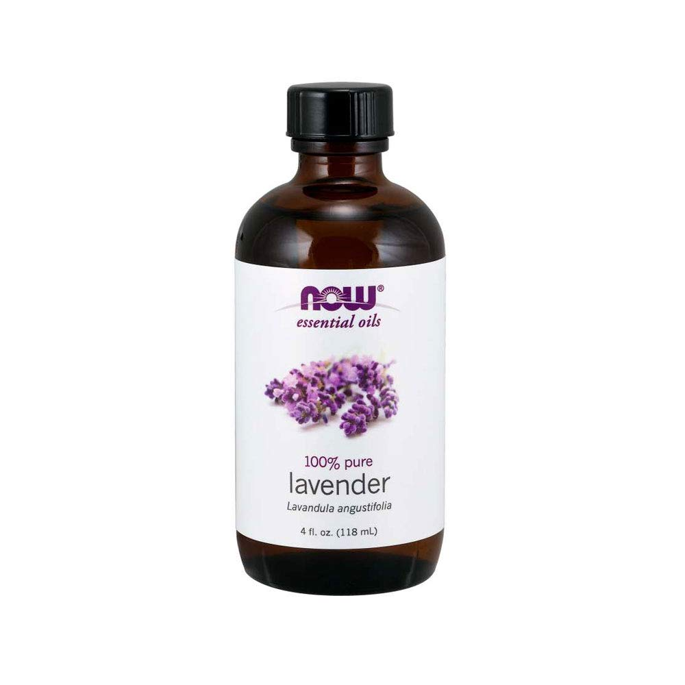 NOW Essential Oils, Lavender Oil, Soothing Aromatherapy Scent, Steam Distilled, 100% Pure, Vegan, 4-Ounce
