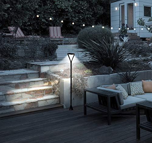 Royal Gardineer Garten LED Solarlampen: 2er-Set Moderne Design-LED-Gartenlaternen, Solarpanel, 50 lm, 148 cm (Strassenlaterne für Garten)